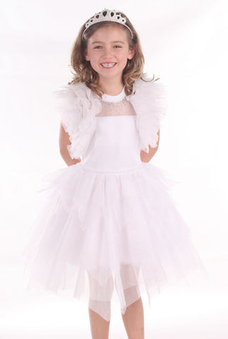 Ooh La La Couture Ruffle Shrug in White