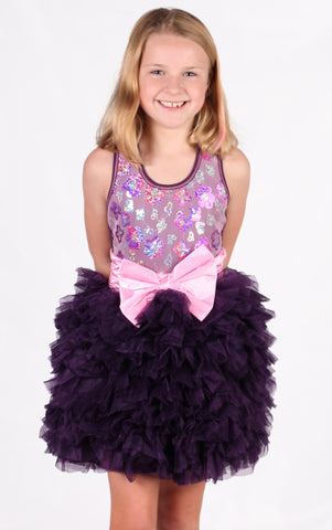 Ooh La La Couture Wow Dream Dress in Plum for Toddlers only