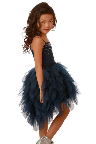 Ooh La La Couture Devin Dress with Swarovski Crystals in Navy sz 5 & 6 only