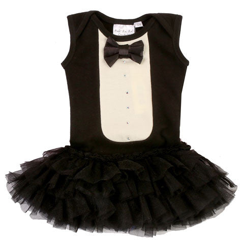 Ooh La La Couture Tuxedo Dress in Black for Babies sz 6/9 mos only