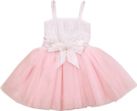 Ooh La La Couture WOW Two Tone Dress in Parfait Pink & Ivory sz 4 8 10 12