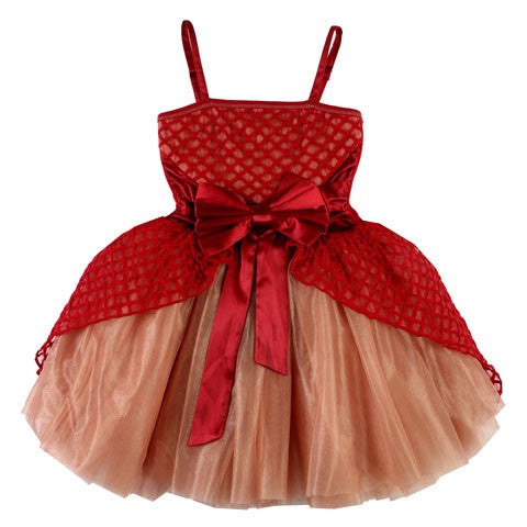 "Ooh La La Couture Jenna ""Cinderella"" Dress in Red & Rose Gold sz 12 only"