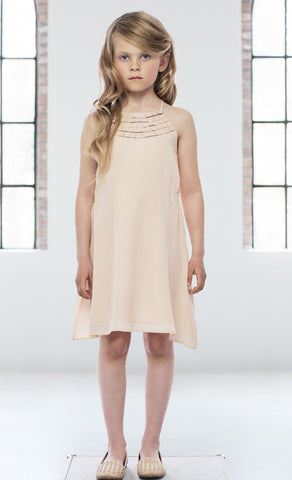 Pale Cloud Gemma Silk Dress
