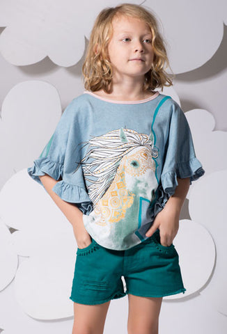 Paper Wings Swing Tee with Pony sz 4 only