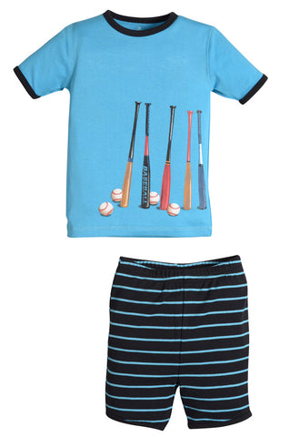 Petit Lem Baseball Shorts Pajamas