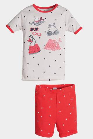 Petit Lem Beach Time Shorts Pajamas for Toddlers & Girls