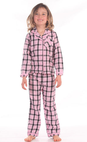 Petit Lem Coco Chanel Classic Pajamas in Pink Plaid for Tweens only
