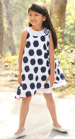 Petit Lem Paris My Love Dotted Swing Dress sz 4 & 5 only