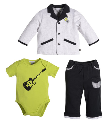 Petit Lem Jazzy Baby 3-Piece Suit for Baby Boys sz 3m only
