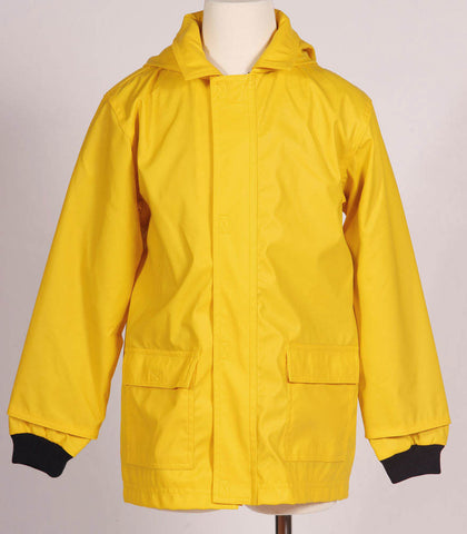 Petit Bateau Classic Yellow Hooded Raincoat