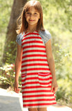 Pink Chicken Edie Dress in Red White and Blue sz 4 only