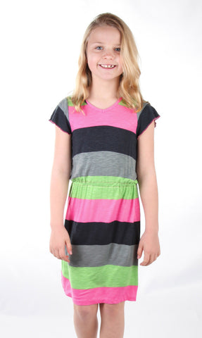 Ragdolls and Rockets Ruby Striped Stretch Dress sz 10 & 12 & 14 only