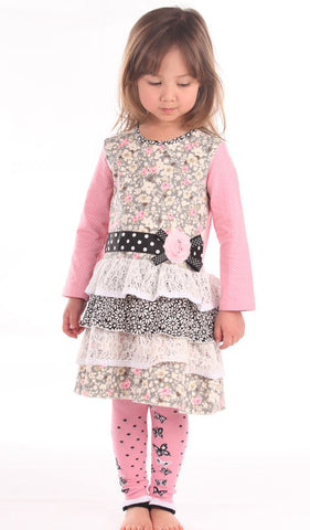 Zaza Couture Roki & Zoi Pink Ruffled Dress for Babies & Toddlers