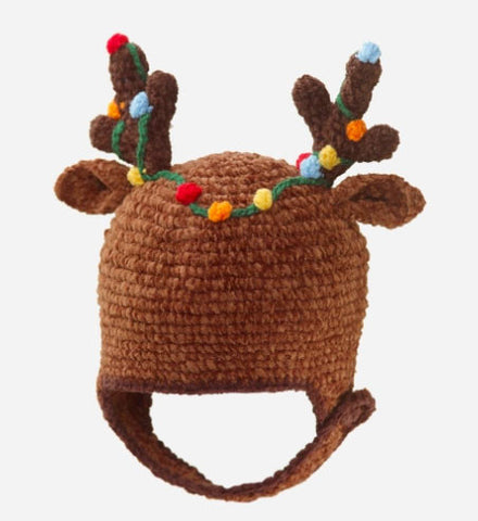 San Diego Hat Company Reindeer Hat Christmas & Holidays sz 0-6 mos only
