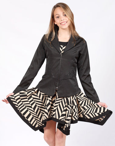 ElisaB Black Tuxedo Jacket for Tweens sz 16 only