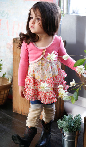 Baby Sara Call Me Coco Cardi Dress in Bright Pink sz 12m & 24m