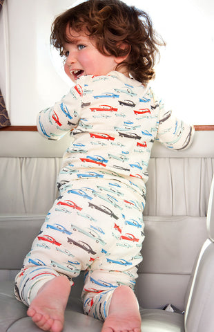 Skylar Luna Organic Cars Long Sleeve Top and Long Pants Pajamas