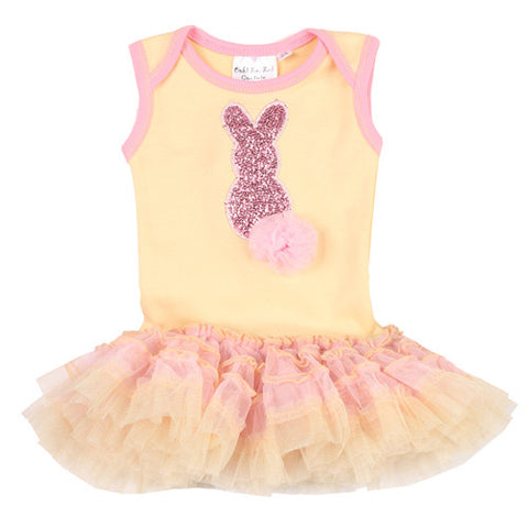 Ooh La La Couture Bunny Dress Onesie for Babies sz 0/3 mos