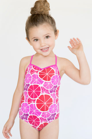 Stella Cove Grapefruit Slices Swimsuit in Red & Purple sz 12 EU only