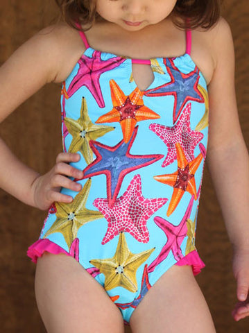 Stella Cove Maine Starfish Swimsuit sz 5 & 6 EU only