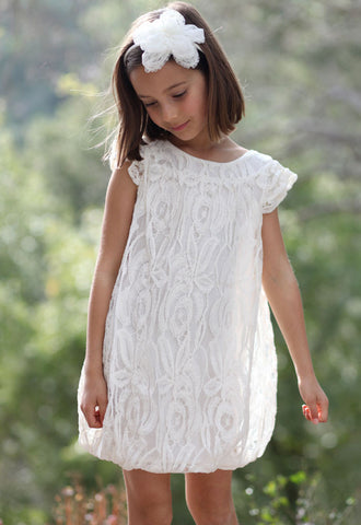 Stella Industries Hazel Lace Dress in Ivory sz 2T only