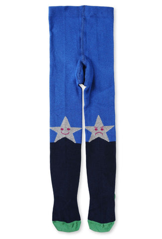Stella McCartney Petra Happy Angry Star Tights in Blue
