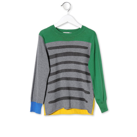 Stella McCartney Pebble Lucky Pullover Sweater for Boys in Organic Cotton sz 12