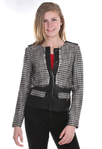 SuperTrash Johannah Black Tweed Jacket
