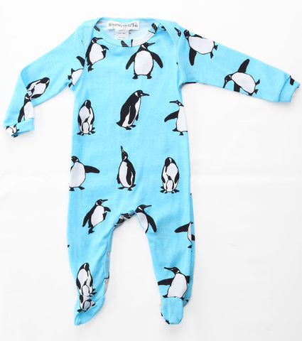 Thingamajiggies Penguins Footed Pajamas for Babies sz NB & 3 mos only