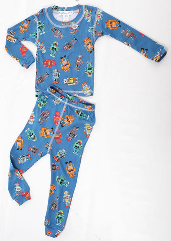 Thingamajiggies Robots Long Pajamas for Boys