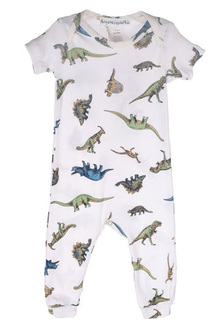 Thingamajiggies Dinosaur S/S Long Pajamas for Babies sz 3m and 18m only
