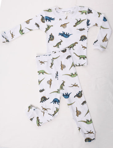 Thingamajiggies Dinosaur Long Pajamas for Boys sz 2T