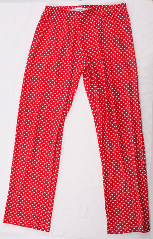 Thingamajiggies Hearts on Red Pajama Pants for Adults