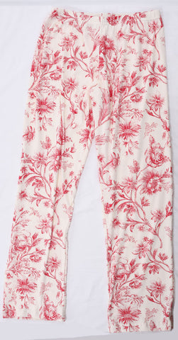 Thingamajiggies Red Toile Pajamas Pants for Adults