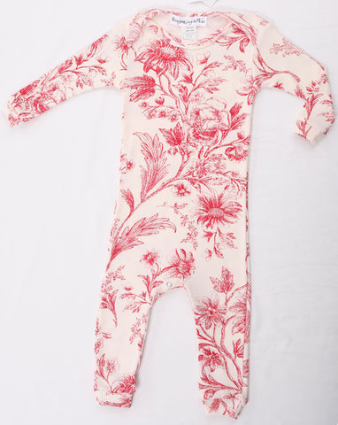 Thingamajiggies Red Toile Longjohns Pajamas for Babies
