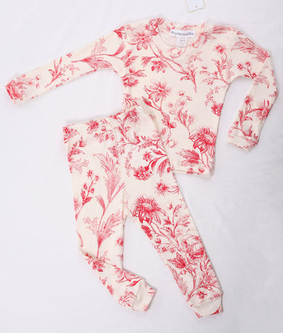 Thingamajiggies Red Toile Long Pajamas