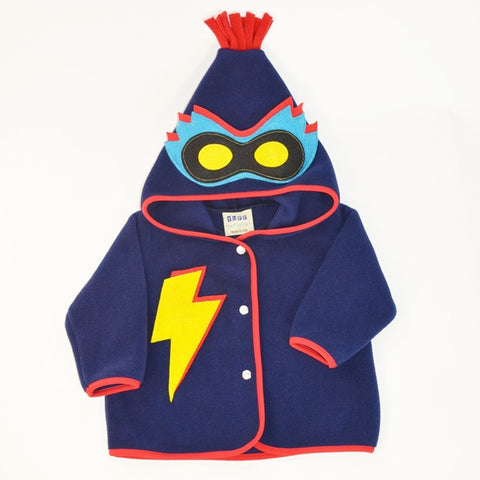 Tuff Kookooshka Fleece Luchador Coat with Masked Hood for Boys sz 18/24m & 2 only