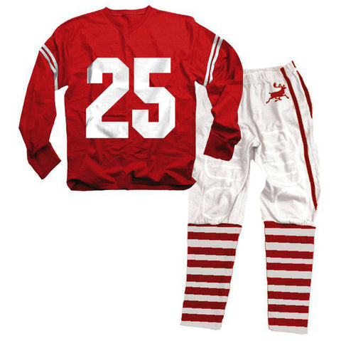 Wes and Willy Christmas Football Style Pajamas for Men