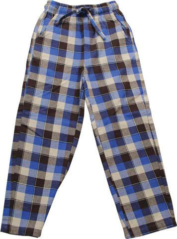 Wes and Willy Brushed Plaid Pants in Blue