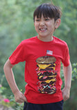 Wes and Willy Mega Burger Short Sleeve Tee for Boys sz 5 only