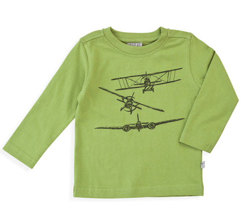 Wheat Airplane T-Shirt for Boys