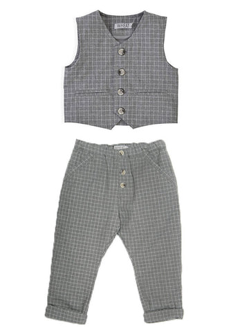 Wheat Gustav Vest and Trouser Set for Toddlers Boys sz 3 only