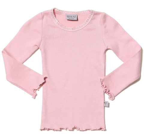 Wheat Rib Knit Tee in Dusty Rose for Babies sz 3m only