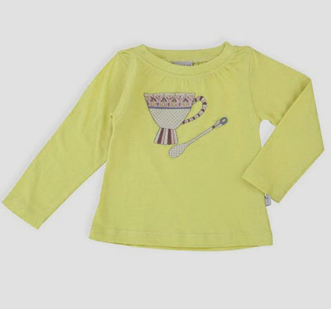 Wheat Teacup Tee in Lime for Babies