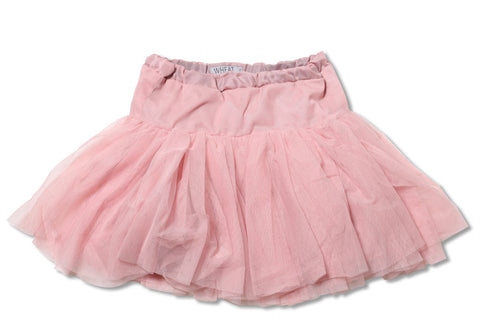 Wheat Tutu Skirt with Adjustable Waist in Dusty Rose for Babies sz 12m only