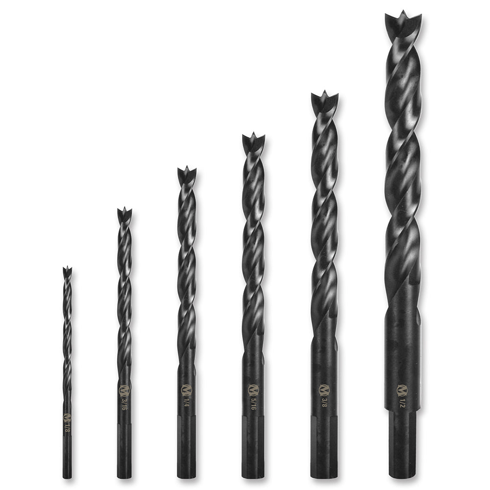 6pc X29 Brad Point Drill Set