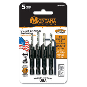 5pc Power Groove Countersink Set