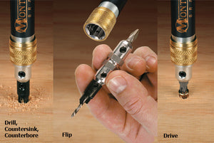 4-in-1 Compact Modular Drill & Driver (#6, #8, #10, #12)