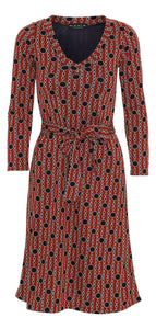 Bente dress Red/navy