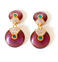 Dynasty Style Double Disc Earrings